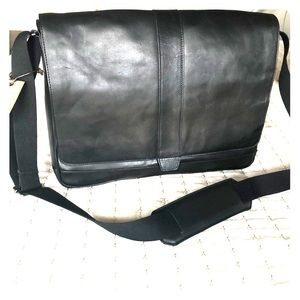 Cole Haan Leather Messenger Bag Madison Collection